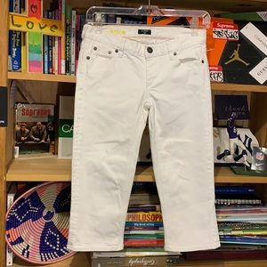 J.CREW-women's white 'MATCHSTICK Stretch' cropped jeans